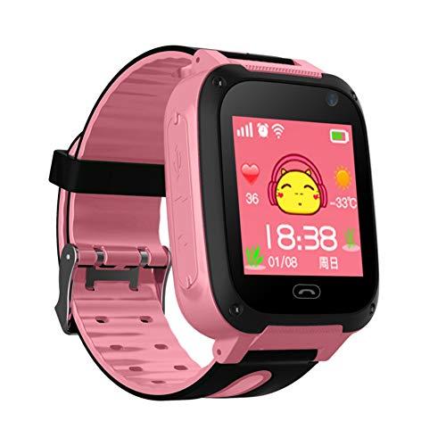 Kinder Smart Watch Phone für Jungen Mädchen SOS-Kamera Sim Kartensteckplatz Touchscreen-Spiel Smartwatch für Kinder Geburtstagsgeschenk (Kinder Uhr-verfolger Für)