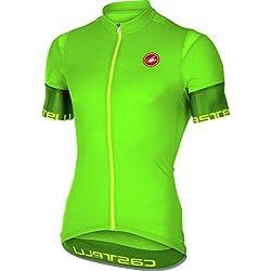 Castelli–Camiseta de ciclismo para hombre, verde