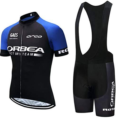 Männer Sommer schnell trocken Bike Team MTB Radsportbekleidung Fahrrad Kleidung Shirts Fahrrad Wear Trikot Trägerhose Herren Radsportbekleidung Anzug@Jersey BIB Short_XL