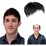 Katuae Men's Wigs 100% Real Human Hair Topper Toupee Clip Hairpiece for men Monofilament Hair Topper Natural Hairline Hairpie