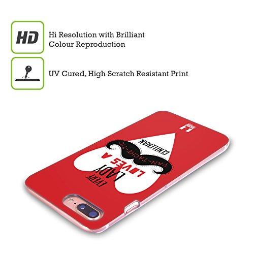 Head Case Designs Bandiera Baffi Serie 1 Cover Retro Rigida per Apple iPhone X Cuore Bianco