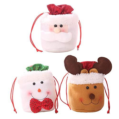 6 STÜCKE Candy Taschen Weihnachten Aufbewahrungstasche Dekoration Weihnachtsgeschenk Tasche Leinen Kordelzug Apple Kinder Geschenk Pack - Geschenk-tasche Pack