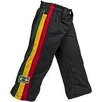 Pantalones Auténtica Brasileña Capoeira Artes Marciales para Chicos (Blanco, Jamaica, Reggae Temático)