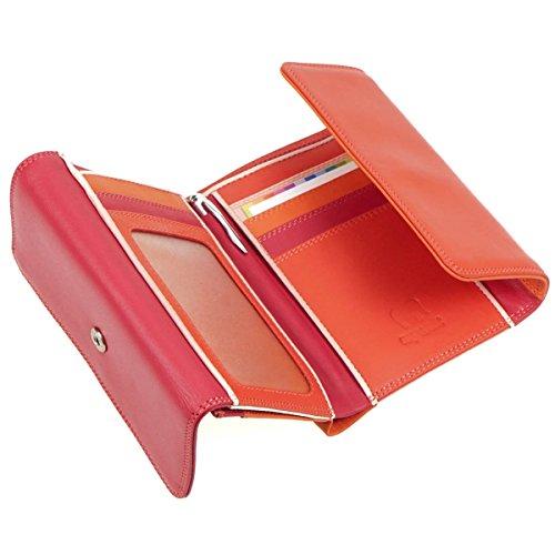 mywalit doppio Flap portafoglio pelle 13 cm Multicolore (Caramello)