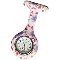 King.MI Anstecknadel Silikon Drucken Farbe Krankenschwester Watch Clip-on hängen Medizinische Pocket Watch Männer Frauen Watch Geschenk