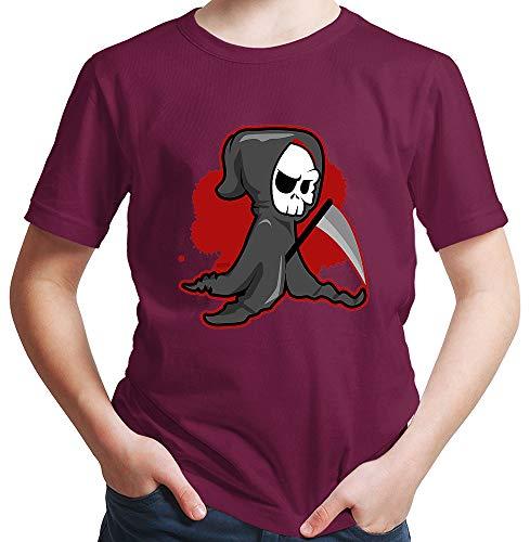 HARIZ  Jungen T-Shirt Sensenmann Halloween Kostüm Horror Kürbis Plus Geschenkkarten Burgundy 164/14-15 Jahre (Sensenmann Für Erwachsene Kostüm Plus)