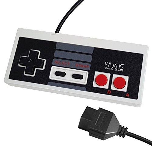 Eaxus®️ Retro NES Controller im Classic Look für das Nintendo Entertainment System. Kabelgebundenes Gamepad / Joypad mit 1,8 Meter Kabellänge für die originale NES Konsole (Nintendo Retro Controller)