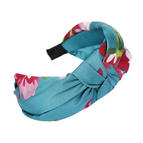 TOPGKD Ins heißer Verkauf Mode Bogen Knoten Haarband Frauen Haar Kopf Hoop Einfache süße Mädchen Haar Stirnband (Blau) (Halloween Zum Verkauf Haar-bögen)