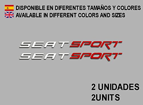 Ecoshirt 7S-CSZX-JM5N Aufkleber Seat Sport F78 Sticker Vinyl Adesivi Decal Aufkleber 353 3mm Stickers Car Voiture Weiß Rot