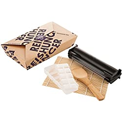 Reishunger Sushi Equipment Box (Easy Sushi Maker Ø 3,5 cm) per preparare comodamente a casa maki, inside-out e nigiri - perfetto anche come regalo