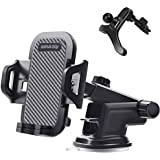 Amaziy- Universal Car Phone Holder Mount, One Release Button, For Air Mount Vent, Windshield and Dashboard, Ultra Stable & Ad