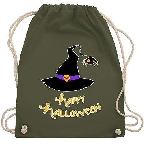 Halloween - Hexenhut Happy Halloween - Unisize - Olivgrün - WM110 - Turnbeutel & Gym Bag
