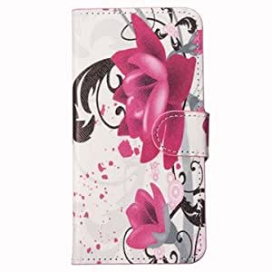 Colorful Pu Leather Stand Case Cover For SamSung Galaxy S6 - Rose Red