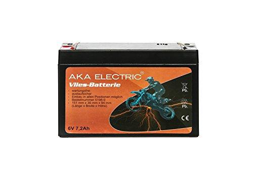 Preisvergleich Produktbild AKA Electric Batterie 6V 7,2Ah AKA (Vlies - wartungsfrei) - für Simson S50, S51, S70, SR50, SR80