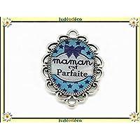 1 imán mamá perfecta estrellas corbata de lazo azul blanco regalos personalizados Navidad mamá cumpleaños ceremonia boda invitados señora boda celebración día de la madre de parejas