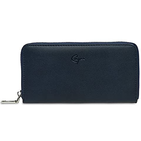 CASPAR GB413 großer langer Damen Geldbeutel Geldbörse Portemonnaie mit umlaufendem