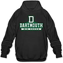 PHOEB para Hombre Ropa Deportiva cordón Sudaderas con Capucha Outwear Chaqueta, Dartmouth College Big Verde