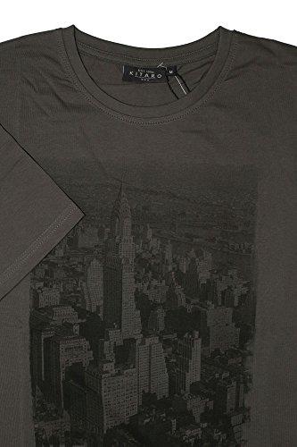 Braunes T-Shirt 'New York' von Kitaro in Übergrößen bis 8XL Dunkelgrau