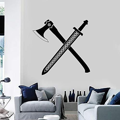 Supmsds Viking Weapons Axe Sword Scandinavian Warrior
