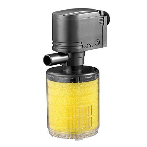 VCBBVG 3 in 1 Mini Aquarium Filter Aquarium Unterwasser Sauerstoffpumpe Spray-Black & White & Yellow -
