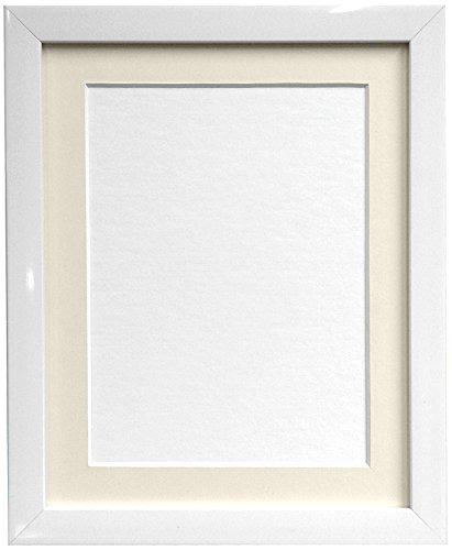 Frames By Post Weiß Foto Bild Poster Rahmen mit elfenbeinfarbenem Passepartout, plastik, 20mm Frame, 6