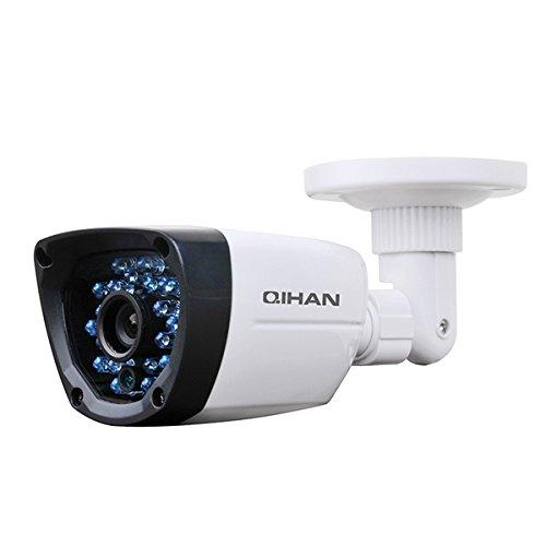 Qihan QH–Kamera Bullet Videoüberwachung AHD 1.3MXP, 720p, 24LED optische, 3.6mm, Chip 1/4CCD HD CMOS, Auflösung 1280(H) X 720(V), Schutzklasse IP66, Stromversorgung 12V, Körper aus Kunststoff, wasserdicht IP66Sprachen italano. Mod: qhw382hcm