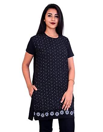 Women's T-Shirt (RG500_Black_Free Size)