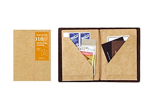 Midori - Set di fogli in carta Kraft per quaderno da viaggio formato passaporto (010)