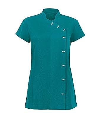 Jazzi beauty therapist salon uniform tunic with pockets for Spa uniform singapore
