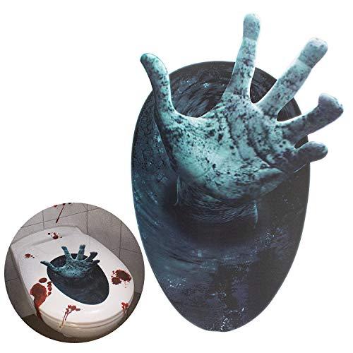 Oblique Unique® Halloween Sticker für Toilettendeckel Klodeckel WC Sitz Deckel Badezimmer Fenster Wand Deko Horror Aufkleber - ausgestreckte Hand