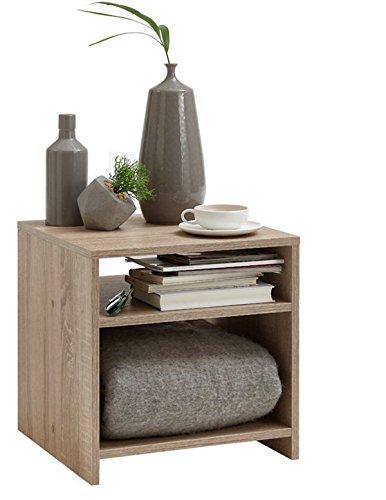 Table d'appoint en bois coloris chêne - Dim : L 40 x P 40 x H 40 cm - PEGANE -