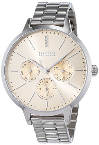 Hugo BOSS Unisex-Adult Multi dial Quartz Watch with Stainless Steel Strap 1502421