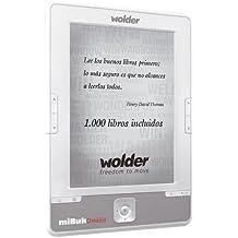 "Wolder miBuk Dreams - E-Reader (152.4 mm (6 ""), E Ink, 600 x 800 Pixeles, ePub, FB2, HTML, MOBI, PDB, PDF, RTF, TXT, BMP, GIF, JPG, PNG, 4 GB)"