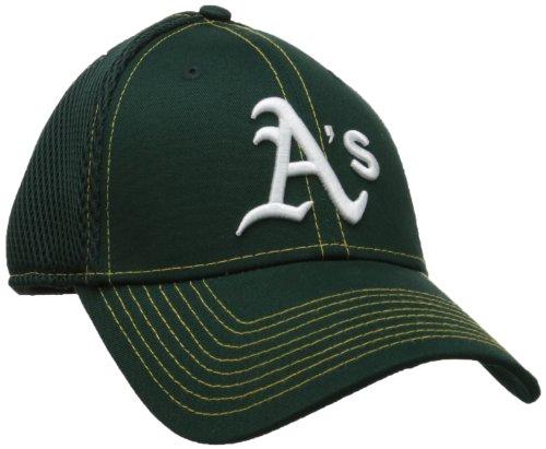 New Era MLB Neo 39THIRTY Stretch Fit Cap, Damen Herren Unisex, NEO OAKATH Team, Oakland Athletics, Small/Medium Twill Mesh Back Cap