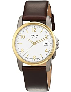 Boccia Damen-Armbanduhr XS Analog Quarz Leder 3080-05