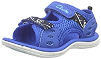Clarks PiranhaBoy Fst, Baby Boys�?? Walking Baby Shoes, Blue (Navy Synthetic), 5.5 UK (22 EU)