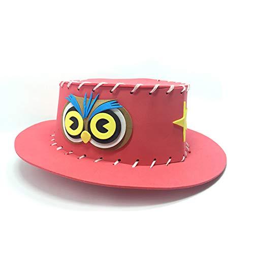 joizo Western Style Kinder Woody Felt Cowboyhut Weinlese kreativen Hut Rodeo Disc-Hut Hut für Kostüm Zubehör (rot)