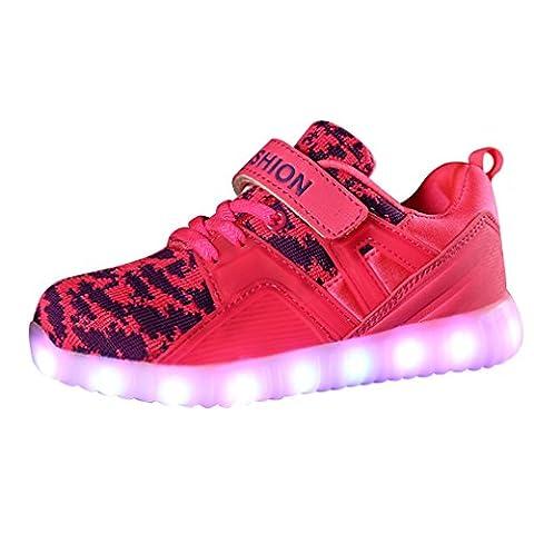 Led Blink Schuhe Kinder Jungen Mädchen Leuchtende Turnschuhe Klettverschluss Sportschuhe Low Top Unisex