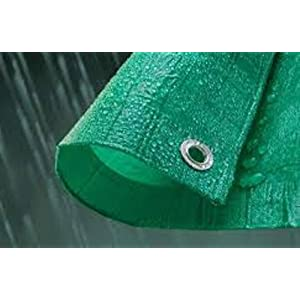 green durable 90g/m quality tarpaulin,ground sheet,waterproof cove r3m x 3m(9FT 8INS X 9FT 8 INS)