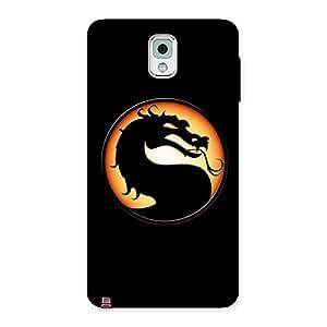 Cute Mortal Black Back Case Cover for Galaxy Note 3