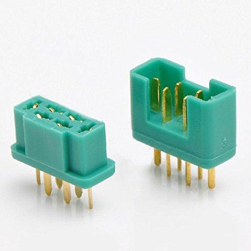 LaDicha 6-poliger MPX-Stecker Real Gold Plating Terminal männlich & weiblich 1 Paar