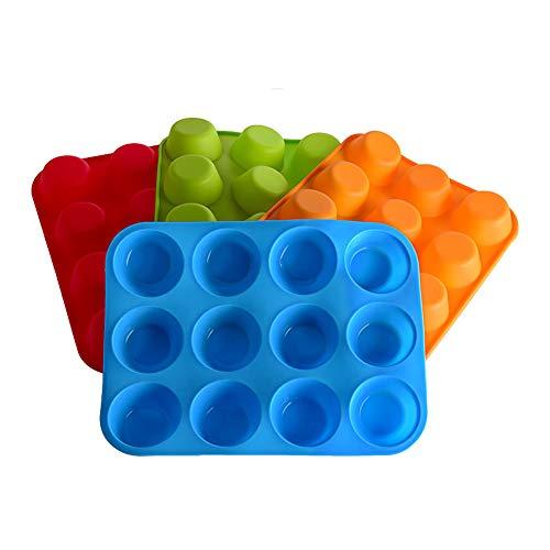 Romote Kuchen-Werkzeuge Fondant Küche Bakeware Silikon-Metall-Non-Stick 12 Schalen-Kuchen-Backblech Mousse Kuchen-Form-Muffin Pan -