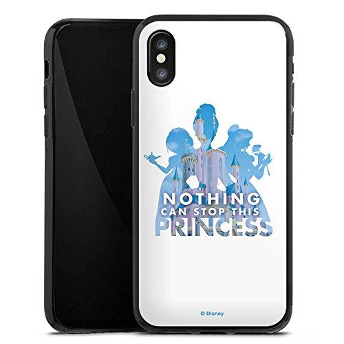 Apple iPhone 5 Silikon Hülle Case Schutzhülle Disney Princess Prinzessin Spruch Silikon Case schwarz