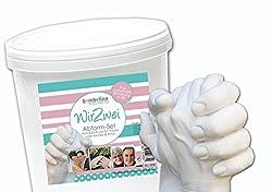 Handabruck Set für Paare, 3D Gipsabdruck für Erwachsene Hände, Valentinstag, Großeltern, Freunde, 2 Hände Gipsabdruck, Deutsches Produkt