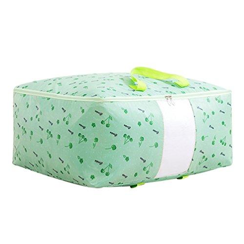 Dexinx Reise Kleidertaschen Verpackungswürfel Organizer Erhöhen Gepäck Kompressionstaschen Tasche Verdickung für Kleidung Grün 002