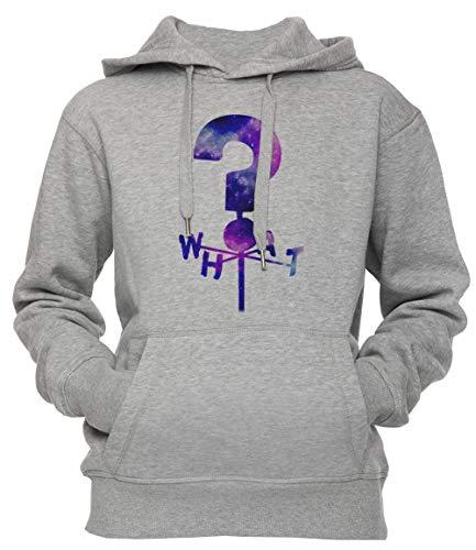 Erido Das Geheimnis Hütte Frage Kennzeichen Wetterfahne Unisex Herren Damen Kapuzenpullover Sweatshirt Pullover Grau Größe XL Men's Women's Hoodie Grey X-Large Size XL