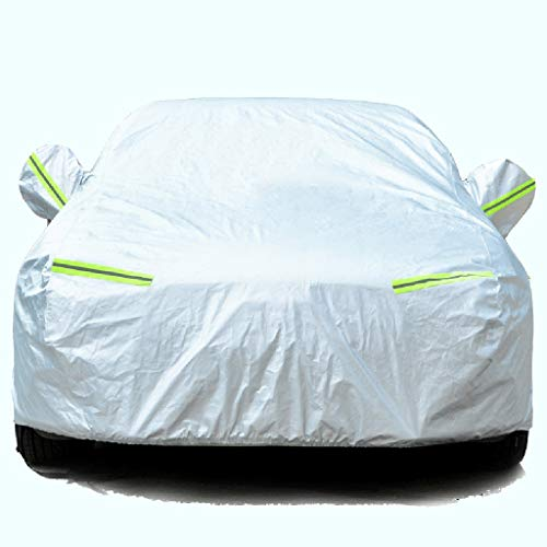 Car hood Snow-proof and waterproof protective cover for all types of weather, sun protection, UV protection, windproof, universal exterior cover for cars