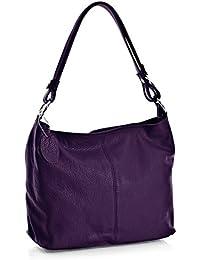 BHBS Femmes en cuir Italien Véritable Bretelle Unique Taille Moyenne sac à main Tous les Jours 30x24x14 cm (LxHxP)