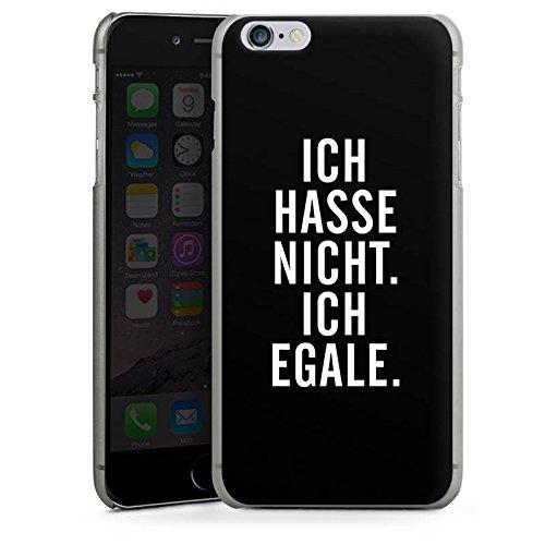 Apple iPhone X Silikon Hülle Case Schutzhülle Humor Egal Sprüche Hard Case anthrazit-klar