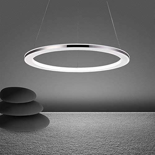 25W Moderne LED Hängeleuchte Rund Pendelleuchte Acryl und Edelstahl Hängelampe Höhenverstellbar Esszimmer Deckenlampe Wohnzimmer Küche Esstisch Lampe Stufenloses Dimmen mit Fernbedienung